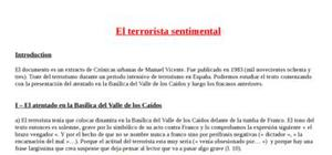 Explication texte : El terrorista sentimental
