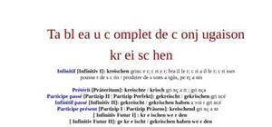 Tableaux de conjugaison du verbe allemand kreischen
