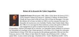 Les reines de la dynastie des Valois Angoulême