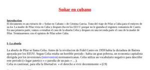 Explication texte : Sonar en Cubano