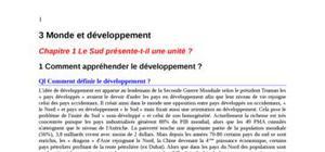 Monde et Développement