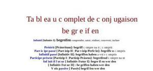 Tableaux de conjugaison du verbe allemand begreifen