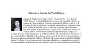 Les reines de la dynastie des Valois Orléans