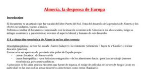 Explication texte: Almeria la despensa