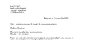 Lettre de motivation type (communication et vente)