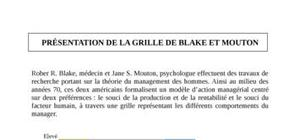 La grille de Blake et Mouton