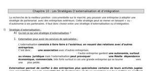 Les Stratégies D'externalisation et d'intégration