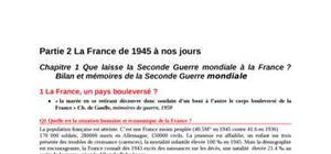 La france de 1945 à nos jours