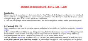 Explication texte : Skeleton in the cupboard (part 2)