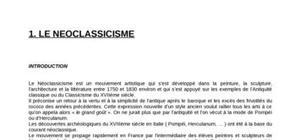 Le réalisme, Le romantisme, Le néoclassicisme