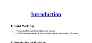 Introduction au marketing