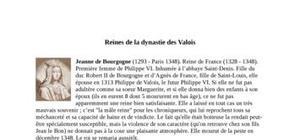 Reines de la dynastie des Valois