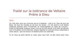 """Lecture analytique sur """"Prière à Dieu"""" de Voltaire"""
