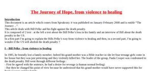 Explication texte : The journey of hope, from violence to healing