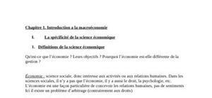 Introduction a la macroéconomie