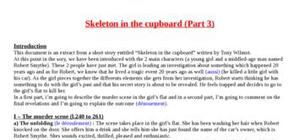Explication texte : Skeleton in the cupboard (part 3)