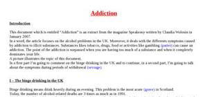 Explication texte : Addiction