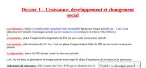 Croissance, développement et changement social