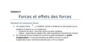 Forces et effets des forces