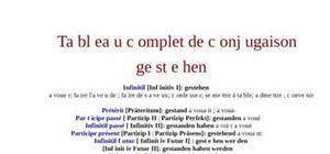 Tableau de conjugaison du verbe gestehen