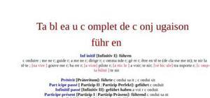Conjugaison du verbe allemand führen