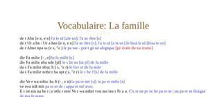 Vocabulaire de la famille