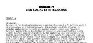 Durkheim, lien social et solidarité