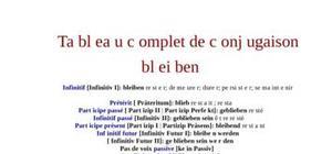 Tableau de conjugaison du verbe bleiben