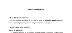 Monnaie et inflation