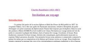 Invitation au voyage de Baudelaire