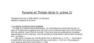 Pyrame et Thisbe : commentaire