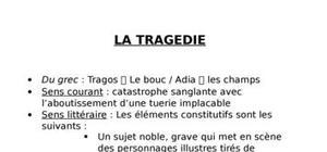 La Tragédie et ses registres