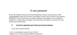 """""""A une passante"""" de Baudelaire"""