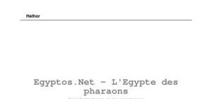 Les dieux de l'Egypte antique - Hathor