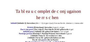 Tableau complet de conjugaison du verbe herrschen