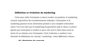 Définition et évolution du marketing