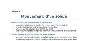 Mouvement d'un solide