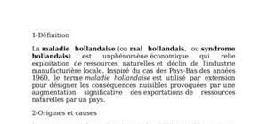 Economie internationnale: le malaise hollandais
