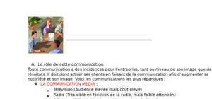 La communication (média / hors média)