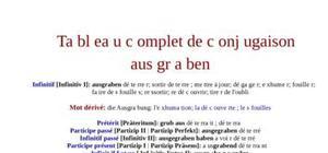Tableau de conjugaison du verbe ausgraben