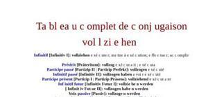 Tableau de conjugaison du verbe vollziehen