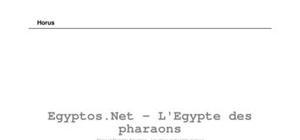 Les dieux de l'Egypte antique - Horus