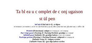 Tableau de conjugaison du verbe stülpen
