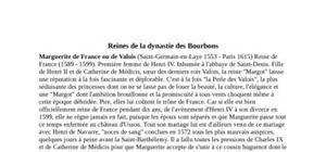 Les reines de la dynastie des Bourbons