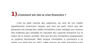 La crise financière : génése, contamination et effets