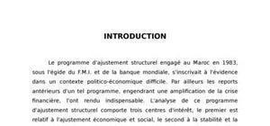 L'ajustement économique au Maroc