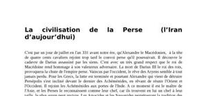 La civilisation de la Perse