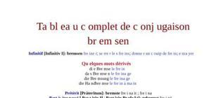 Tableau de conjugaison du verbe bremsen