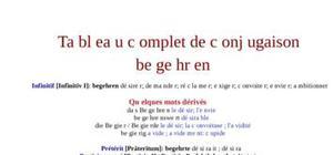 Tableau de conjugaison du verbe begehren