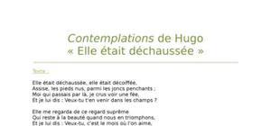 """Lecture analytique sur """"Elle était déchaussée"""" de Hugo"""